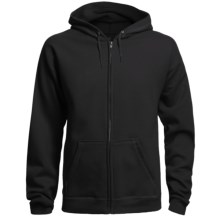 Hanes 8 oz. Fleece Hoodie Sweatshirt - Full Zip (For Men and Women) in Black - 2nds