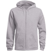 Hanes 8 oz. Fleece Hoodie Sweatshirt - Full Zip (For Men and Women) in Grey Heather - 2nds