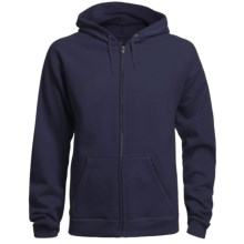 Hanes 8 oz. Fleece Hoodie Sweatshirt - Full Zip (For Men and Women) in Navy - 2nds