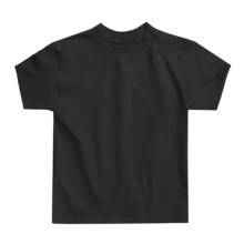 Hanes Authentic Open End T-Shirt - Cotton, Short Sleeve (For Youth) in Black - 2nds