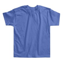 Hanes Authentic Open End T-Shirt - Cotton, Short Sleeve (For Youth) in Blue Grey - 2nds