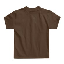 Hanes Authentic Open End T-Shirt - Cotton, Short Sleeve (For Youth) in Brown - 2nds
