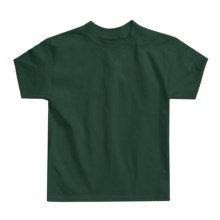 Hanes Authentic Open End T-Shirt - Cotton, Short Sleeve (For Youth) in Dark Green - 2nds