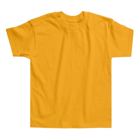 Hanes Authentic Open End T-Shirt - Cotton, Short Sleeve (For Youth) in Gold