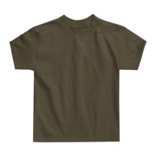Hanes Authentic Open End T-Shirt - Cotton, Short Sleeve (For Youth) in Olive - 2nds