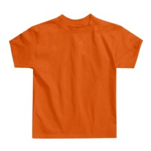 Hanes Authentic Open End T-Shirt - Cotton, Short Sleeve (For Youth) in Orange - 2nds