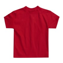Hanes Authentic Open End T-Shirt - Cotton, Short Sleeve (For Youth) in Red - 2nds