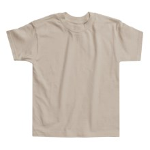 Hanes Authentic Open End T-Shirt - Cotton, Short Sleeve (For Youth) in Tan, Sand, Pebble - 2nds