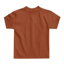 Hanes Authentic Open End T-Shirt - Cotton, Short Sleeve (For Youth) in Tan - 2nds