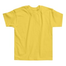 Hanes Authentic Open End T-Shirt - Cotton, Short Sleeve (For Youth) in Yellow - 2nds