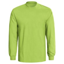 Hanes Authentic Open End T-Shirt -  Tagless, Long Sleeve (For Men and Women) in Yellow Green - 2nds