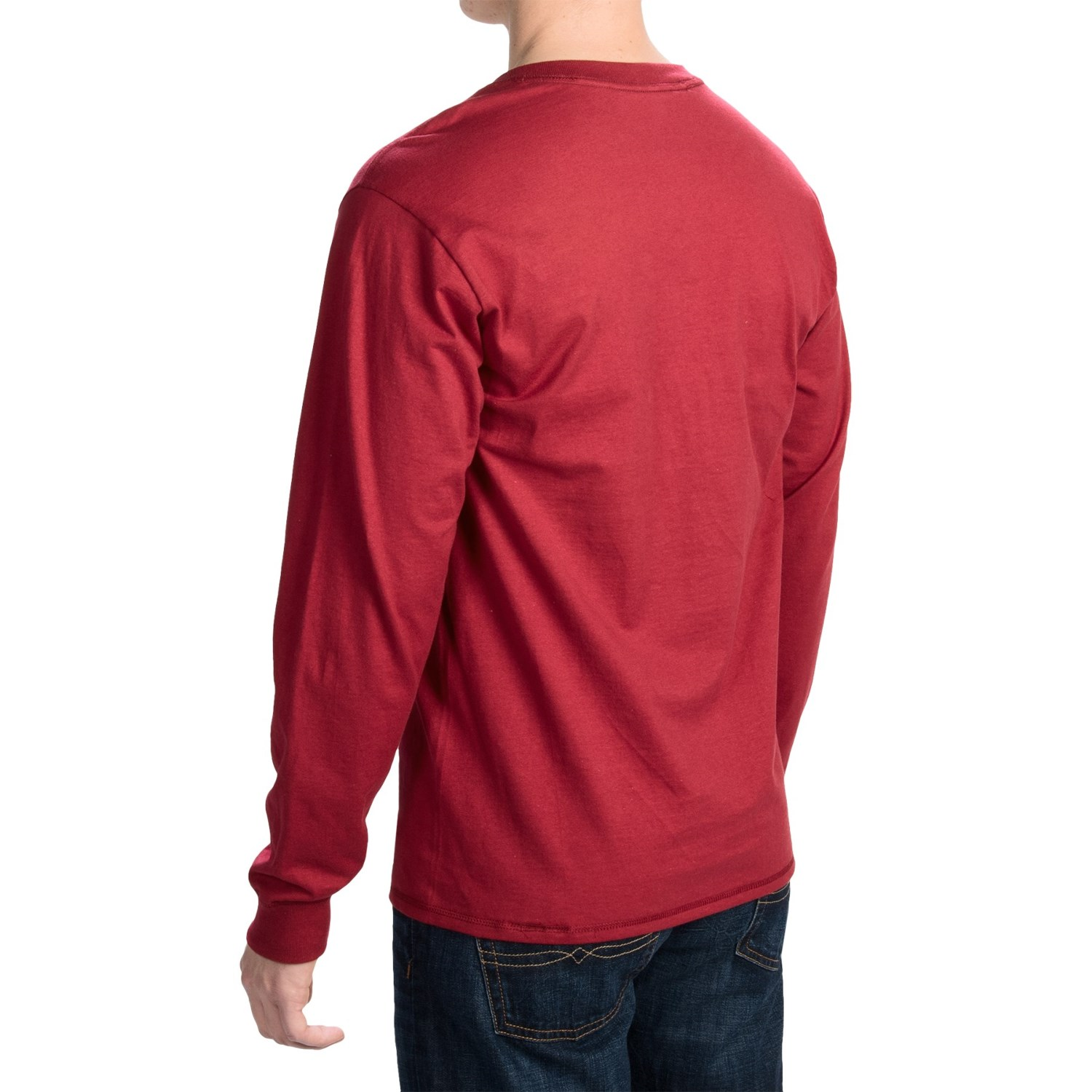 Hanes beefy t henley shirt for men save 66 for Long sleeve henley shirts for men