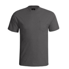 Hanes Beefy-T Pocket T-Shirt - Ring-Spun Cotton, Short Sleeve (For Men) in Charcoal Heather - 2nds