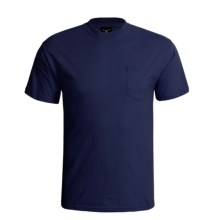 Hanes Beefy-T Pocket T-Shirt - Ring-Spun Cotton, Short Sleeve (For Men) in Dark Blue - 2nds