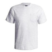 Hanes Beefy-T Pocket T-Shirt - Ring-Spun Cotton, Short Sleeve (For Men) in Light Grey Heather - 2nds