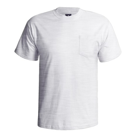 Hanes Beefy-T Pocket T-Shirt - Ring-Spun Cotton, Short Sleeve (For Men) in Wine