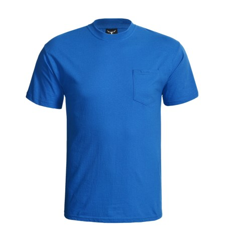 Hanes Beefy-T Pocket T-Shirt - Ring-Spun Cotton, Short Sleeve (For Men) in Red