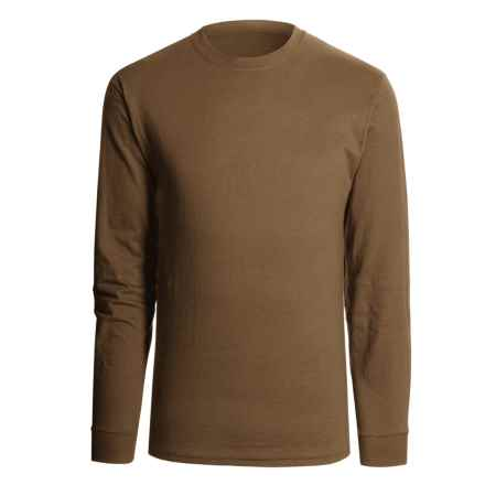 Hanes Beefy T-Shirt - Long Sleeve (For Men and Women) in Brown - 2nds
