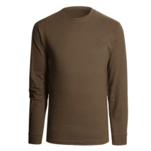 Hanes Beefy T-Shirt - Long Sleeve (For Men and Women) in Dark Brown - 2nds