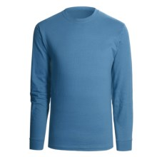 Hanes Beefy T-Shirt - Long Sleeve (For Men and Women) in Grey Blue - 2nds