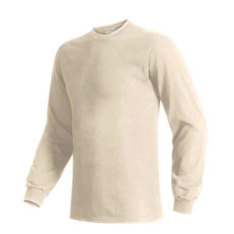 Hanes Beefy T-Shirt - Long Sleeve (For Men and Women) in Natural