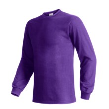 Hanes Beefy T-Shirt - Long Sleeve (For Men and Women) in Purple - 2nds