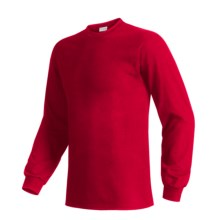 Hanes Beefy T-Shirt - Long Sleeve (For Men and Women) in Red - 2nds