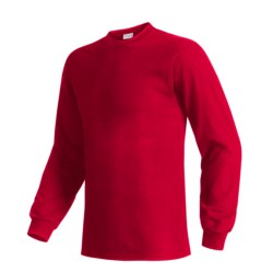 Hanes Beefy T-Shirt - Long Sleeve (For Men and Women) in Red