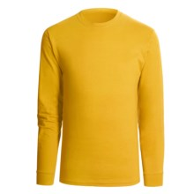 Hanes Beefy T-Shirt - Long Sleeve (For Men and Women) in Yellow - 2nds