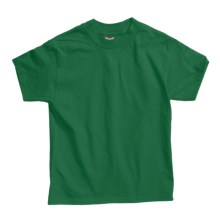 Hanes Beefy T-Shirt - Short Sleeve (For Youth) in Dark Green - 2nds