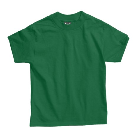 Hanes Beefy T-Shirt - Short Sleeve (For Youth) in Dark Green