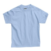 Hanes Beefy T-Shirt - Short Sleeve (For Youth) in Light Blue - 2nds