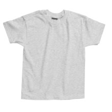 Hanes Beefy T-Shirt - Short Sleeve (For Youth) in Light Grey Heather - 2nds