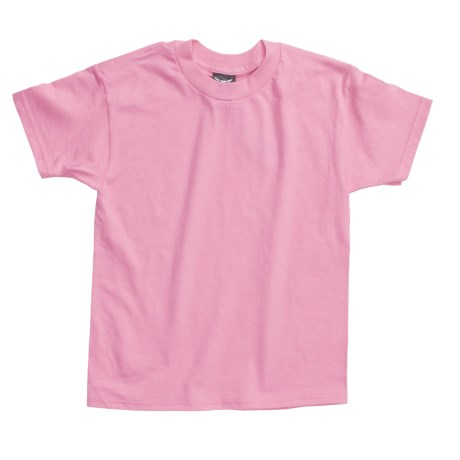 Hanes Beefy T-Shirt - Short Sleeve (For Youth) in Pink
