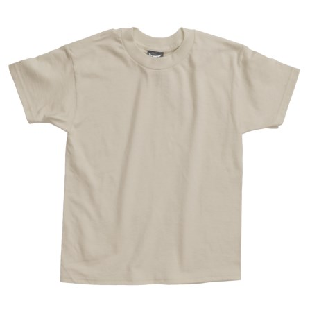 Hanes Beefy T-Shirt - Short Sleeve (For Youth) in Tan