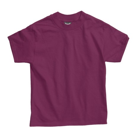 Hanes Beefy T-Shirt - Short Sleeve (For Youth) in Wine