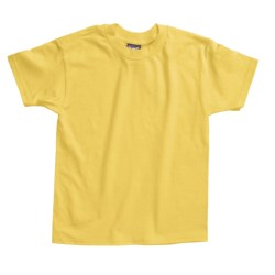 Hanes Beefy T-Shirt - Short Sleeve (For Youth) in Light Blue
