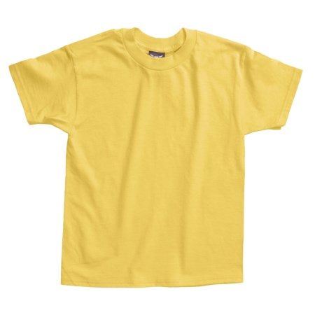 Hanes Beefy T-Shirt - Short Sleeve (For Youth) in Yellow