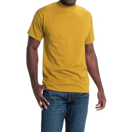 Hanes Beefy-T® T-Shirt - Short Sleeve (For Men and Women) in Gold