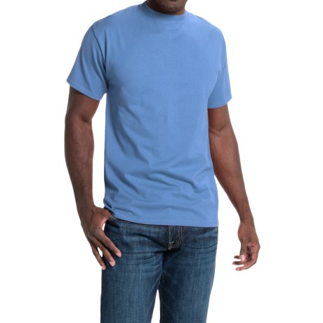 Hanes Beefy-T® T-Shirt - Short Sleeve (For Men and Women) in Medium Blue