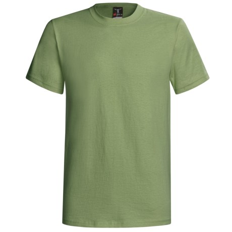 Hanes Beefy-T® T-Shirt - Short Sleeve (For Men and Women) in Yellow Green