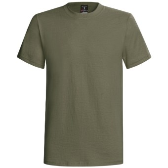 Hanes Beefy-T® T-Shirt - Short Sleeve (For Men and Women) in Olive