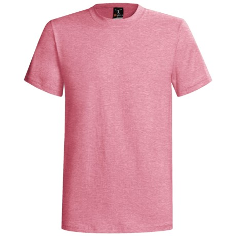 Hanes Beefy-T® T-Shirt - Short Sleeve (For Men and Women) in Pink Heather