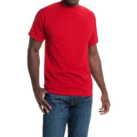 Hanes Beefy-T® T-Shirt - Short Sleeve (For Men and Women) in Red