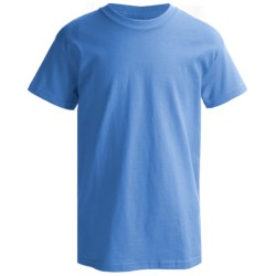 Hanes Classics ComfortSoft T-Shirt - Short Sleeve (For Boys) in Light Steel