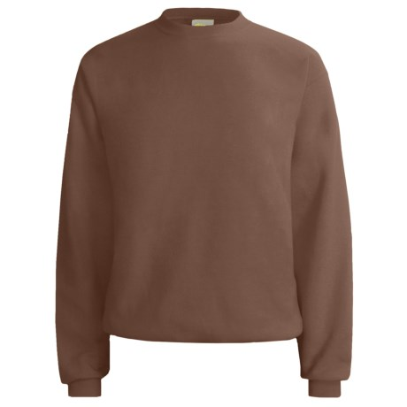 Hanes Comfort-Blend Fleece Sweatshirt - Crew Neck, Long Sleeve (For Men and Women) in Dark Brown