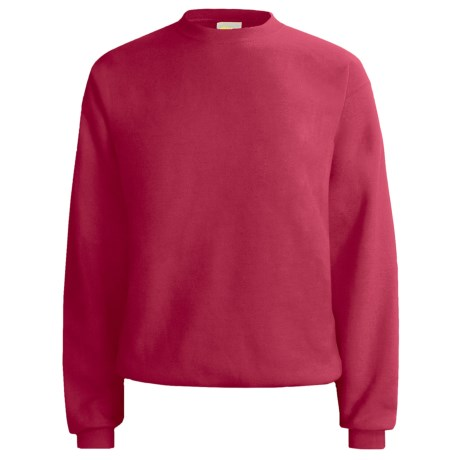 Hanes Comfort-Blend Fleece Sweatshirt - Crew Neck, Long Sleeve (For Men and Women) in Red