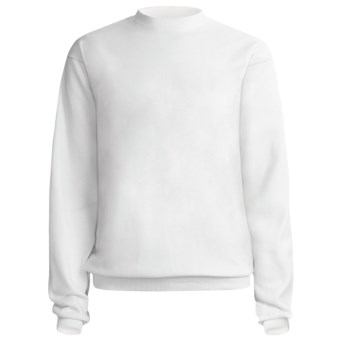 Hanes Comfort-Blend Fleece Sweatshirt - Crew Neck, Long Sleeve (For Men and Women) in White