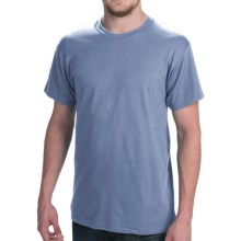 Hanes Comfort Cool Moisture-Wicking T-Shirt - Crew Neck, Short Sleeve (For Men and Women) in Blue Grey - 2nds