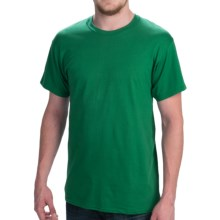 Hanes Comfort Cool Moisture-Wicking T-Shirt - Crew Neck, Short Sleeve (For Men and Women) in Medium Green - 2nds